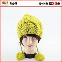 韩版防寒冬帽毛线帽 经典提花 外贸 工厂批发定做 双层保暖