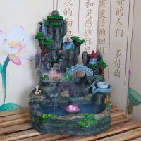 树脂假山流水喷泉鱼缸池盆景风水轮工艺品玄关摆设办公室客厅摆件