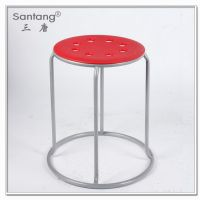 休闲家具餐厅椅子 不锈钢餐椅 户外休息圆形凳子 1068B
