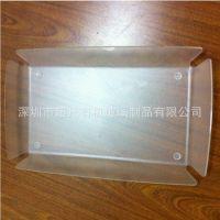 供应高档时尚亚克力托盘制品 有机玻璃方形托盘加工定制厂家