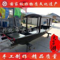 专业定制4.5米装饰乌篷船 小木船 手划船 可做木船摆件 景观船 尺寸可定制