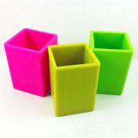 创意硅胶办公文具用品 硅胶笔筒 硅胶收纳盒广告礼品定制