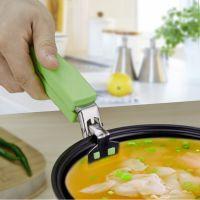 炫彩多功能厨房小工具不锈钢防烫夹 硅胶头创意夹碗器取碗夹logo
