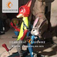 模型专家【上海升美】疯狂动物城玻璃钢雕塑卡通动物雕塑摆件定制
