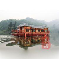 山西出售木船画舫船乌篷船玻璃钢旅游船电动木船客船价格一般多少哪里有好的卖