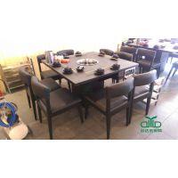 川堂座新品火锅桌椅 运达来工程桌椅家具定制 新款大理石火锅餐桌椅组合上市