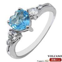 宝石戒指925银镀白金天然蓝黄玉戒指SR0214B 韩版饰品加工批发