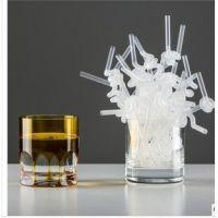 双童吸管100支装 艺术吸管 烟壶配件 饮料吸管 单弯吸管 二色可选