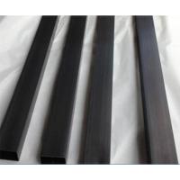 订做真空电镀不锈钢黑钛金管,黑钛金10*10不锈钢小方管,底价出售黑钛金不锈钢装饰管