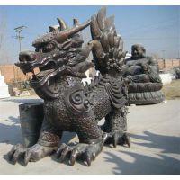 天津铸铜麒麟、艾品雕塑(图)、大型铸铜麒麟