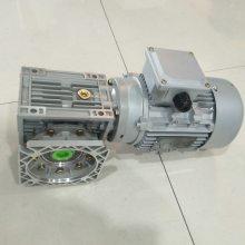 湖北新洲地区制香机械用铝合金涡轮蜗杆减速机RV063/25-F+1.1KW(90B14)