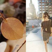 韩版时尚百搭街拍项链 镀金树叶项链 Ebay速卖通货源 ALAN2014019