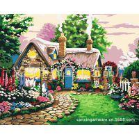 DIY钻石 画钻石十字绣 童话小屋风景系列客厅卧室装饰图