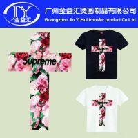 广州厂家供应各种花纹字母图案热转印烫画 现货批发