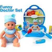 儿童益智医生仿真医药箱听诊器手提工具 宝宝过家家玩具套装
