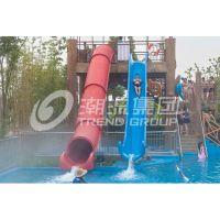 广州潮流水上乐园设备厂家供应水滑梯——雪撬炮筒滑梯