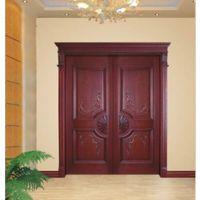 卡尔森复合套装门价格|实木复合拼装门|实木套装门|平板雕花门|贴纸门
