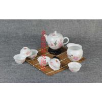 青花瓷茶具礼品 陶瓷茶具定做