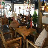 美式乡村漫咖啡桌椅老榆木老门板桌椅家具-北京汉丰家居装饰设计有限公司
