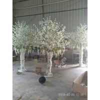 婚礼樱花树 场景布置白色樱花树 广州仿真树厂家 假树定做