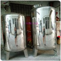 广西来宾市厂家提供食品级316不锈钢水箱 防城港市立式圆形无菌水箱 规格大小可定做