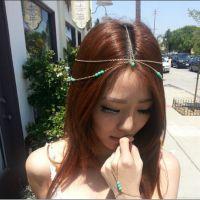 外贸头饰厂家批发 欧美时尚波西米亚绿松石发带发箍发饰
