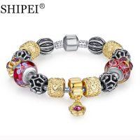 2015新款潘朵拉镀金琉璃珠精品手链速卖通ebay外贸爆款批发ABA029