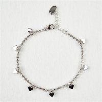 速卖通热卖款 韩版心形手链批发加长链设计保色持久可做礼物
