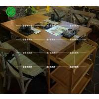 主题餐厅桌椅 主题火锅桌 贴木皮火锅桌定制 多多乐家具供应地中海餐厅餐桌
