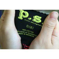 鸿元供应优质环保的热转印烫唛,尺码烫标、服装标签logo