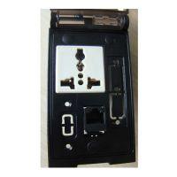 富崎P-11000穆尔前置接口面板工业组合插座电源USB、网口