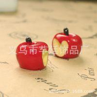 树脂苹果造型手机饰品配件 摆件配饰 艺术造型树脂配件