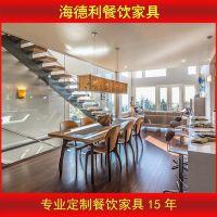 日式长餐桌椅 全实木象牙白色餐厅长方形餐桌椅组合