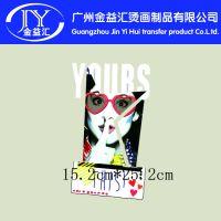 夏季女生服装个性t恤图案 服装热转印烫画现货供应