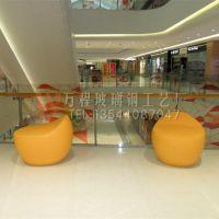 厂家直销玻璃钢休闲凳 商场现代美陈休息凳 单人凳 简易造型凳子