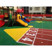 幼儿园塑胶场地施工,EPDM彩色地板铺设,学校塑胶地板施工