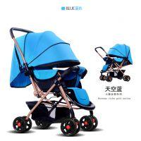 临颍县昌盛童车制造有限公司华婴婴儿推车可坐可躺手推车八轮宝宝推车双向推行婴儿车-比同行耐磨3年的童车