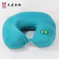 粒子u型枕按摩枕颈椎护颈枕脖子记忆u形保健枕贴牌加工