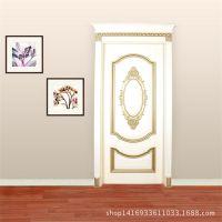 新春特卖 高端原木房间门 白色 雕花卧室门套装门 纯实木门