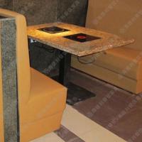开仓促销 地中海风火锅桌椅 无烟电磁炉烤涮一体桌