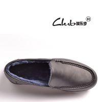 2016春季新款羊毛男士保暖棉鞋 品牌真皮男靴 外贸雪地靴男鞋