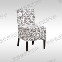 时尚餐厅餐椅厂价出售 美式田园布艺餐椅 矮脚高背沙发椅 懒人沙发