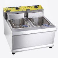 现货供应902双缸双筛油条电炸炉商用高档实用炸鸡柳薯条机电炸锅