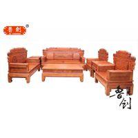 红木沙发非洲花梨木万字沙发现代中式客厅家具全实木沙发组合特价