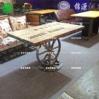 餐厅工业风桌椅 多多乐家具 复古餐桌椅定制厂家