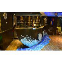 木船 纯手工木工定做 乌篷船 餐厅船 仿旧装饰 装饰船