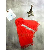 上海时尚羊绒围长款加大可当披肩两用围巾库存折扣批发