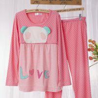 外出时尚孕妇装月子服 新款纯棉秋季睡衣哺乳衣哺乳服家居服批发
