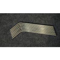 卫生级/食品级316不锈钢直吸管 304L不锈钢弯头吸管 可凹槽攻牙