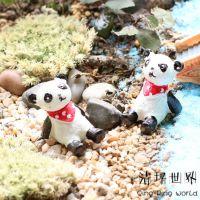 苔藓微景观ZAKKA杂货(摆件-国宝熊猫)多肉花盆花插配饰